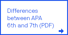 Differences between APA 6th and 7th