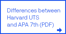 Differences between Harvard UTS and APA 7th