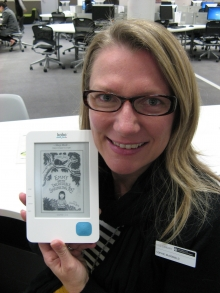 Librarian with eReader