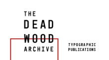 Typographic Logo for the DeadWood Archive exhibition