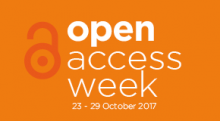 Open Access Week 2017 logo with open lock