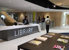 Library entrance Level 7